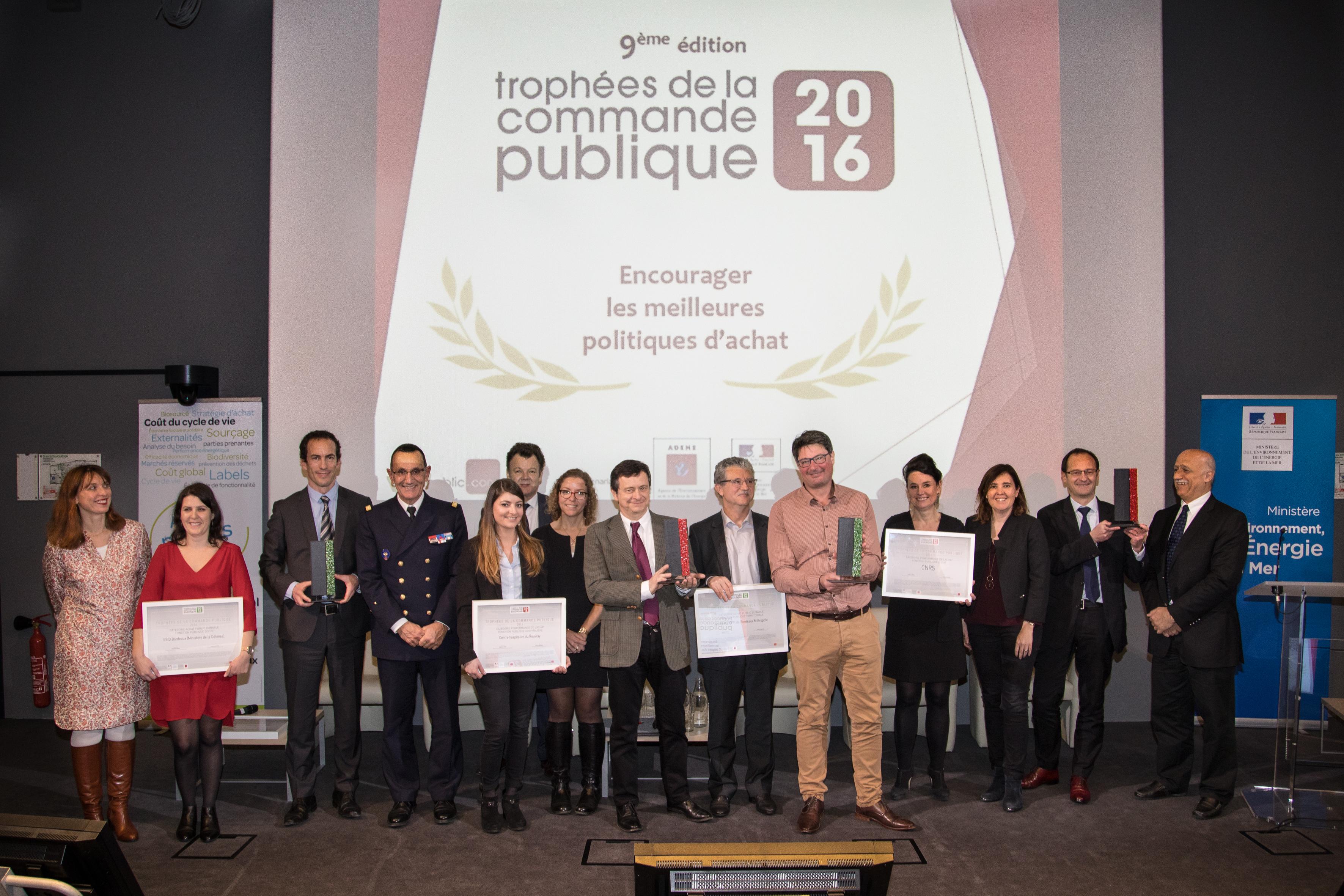 Lauréats des trophées de la commande publique 2016
