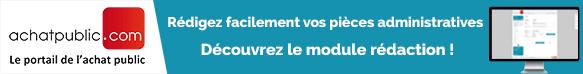 Module Rédaction - Portail achatpublic.com