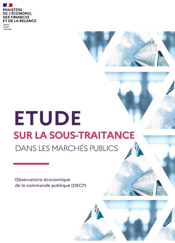 Etude sur la sous-traitance dans les marchés publics