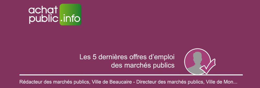 achatpublic.info : 5 offres d'emploi