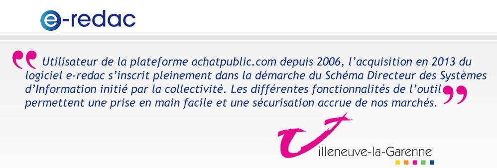 Villeneuve-la-Garenne choisit e-redac