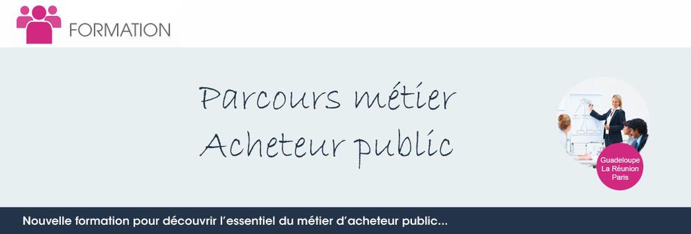 Formation Parcours métier - Acheteur public
