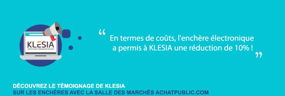Enchères électronique - Témoignage de KLESIA