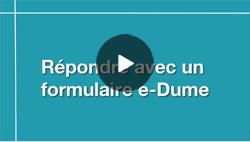 Répondre à une consultation avec un formulaire e-Dume